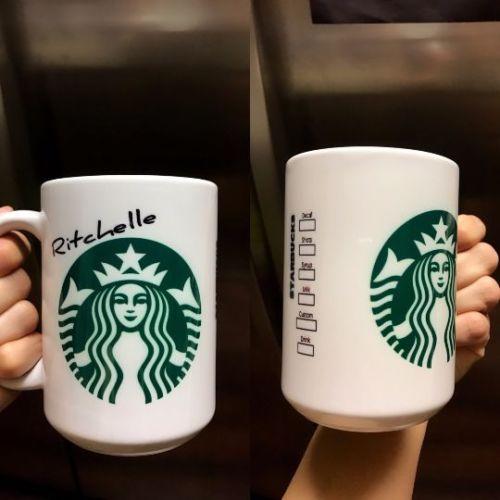 Personalized Starbucks Style Coffee Mug